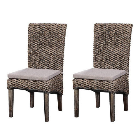 Coast To Coast Set of 2 Sea Grass Dining Chairs