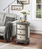 Coast To Coast Three Drawer Oval Chairside Chest