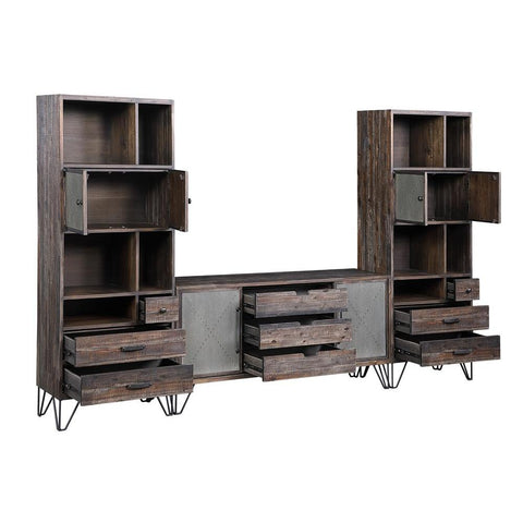 Coast To Coast Two Door Three Drawer Bookcase/Pier