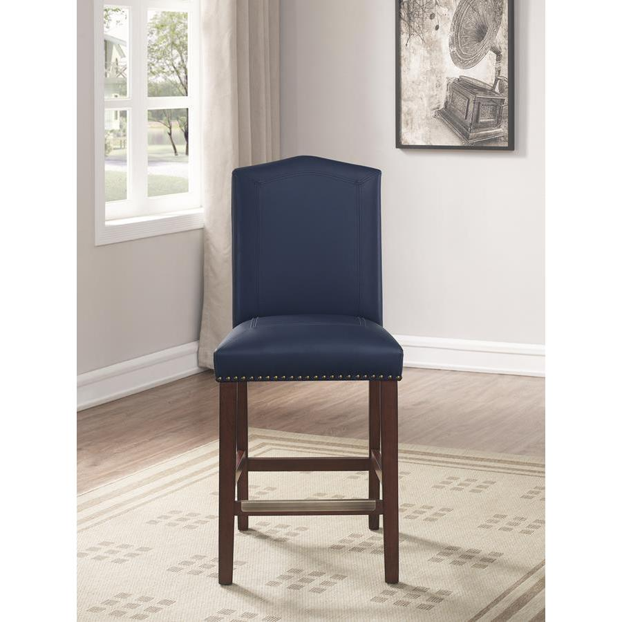 Comfort Pointe Carteret Navy Leather Counter Stool