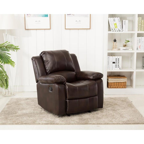 Comfort Pointe Clifton Leather Gel Recliner in Burnished Brown