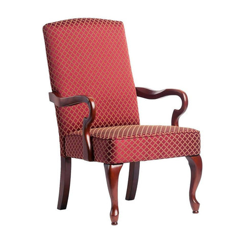 Comfort Pointe Derby Red Gooseneck Arm Chair