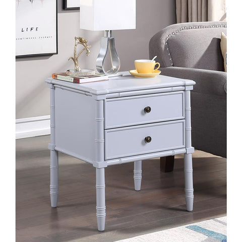 Comfort Pointe Ellison 2 Drawer Nightstand - Dove Gray
