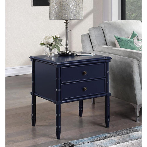 Comfort Pointe Ellison 2 Drawer Nightstand - Midnight Blue