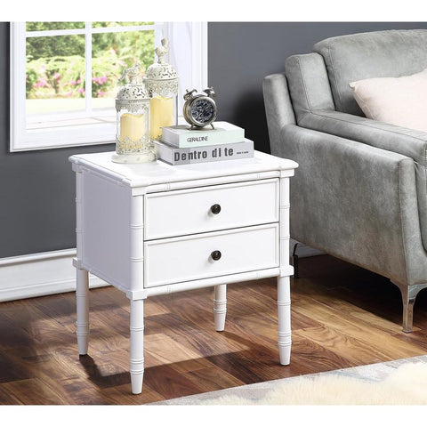Comfort Pointe Ellison 2 Drawer Nightstand - White