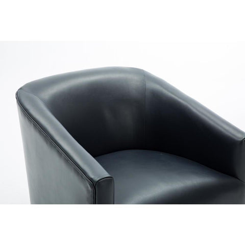 Comfort Pointe Gaven Midnight Blue Wood Base Swivel Chair
