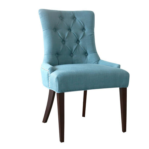 Comfort Pointe Madelyn Tufted Chair in Cherry & Caribbean