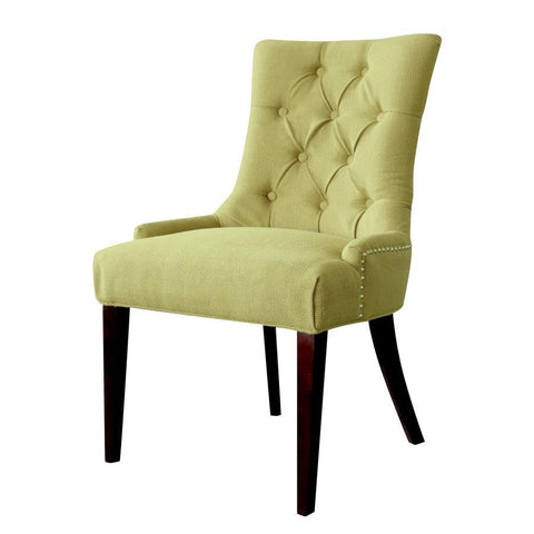 Comfort Pointe Madelyn Tufted Chair in Cherry & Kiwi