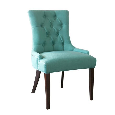 Comfort Pointe Madelyn Tufted Chair in Cherry & Ocean