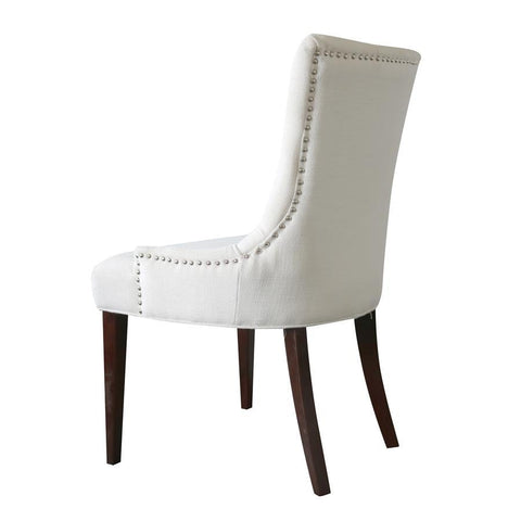 Comfort Pointe Madelyn Tufted Chair in Cherry & Snow