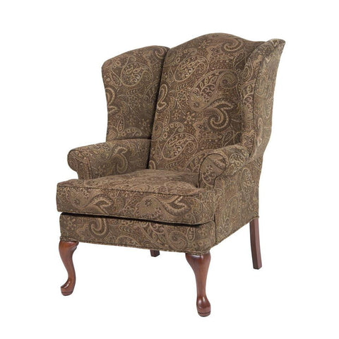 Comfort Pointe Paisley Coco Wing Back Chair in Cherry