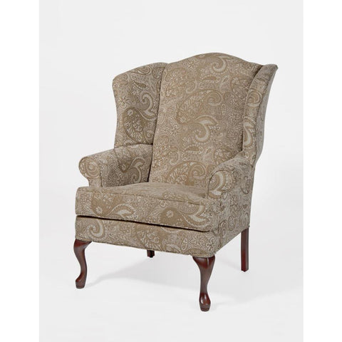 Comfort Pointe Paisley Cream Wingback Chair