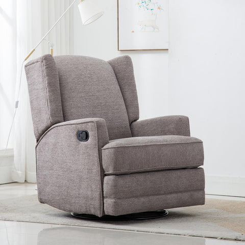 Comfort Pointe Serelda Smoke Wingback Swivel Glider Recliner