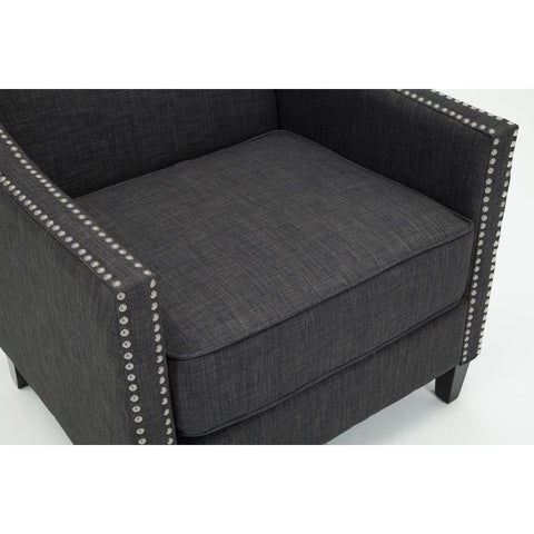 Comfort Pointe Taslo Accent Chair in Charcoal