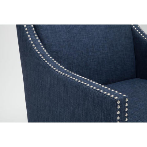 Comfort Pointe Taslo Accent Chair in Navy Blue