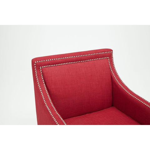 Comfort Pointe Taslo Accent Chair in Red