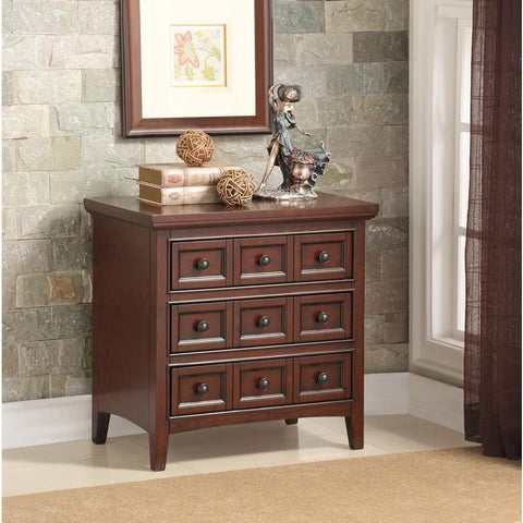Comfort Pointe Westley Cherry 3 Drawer Nightstand