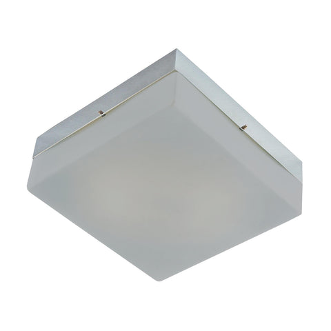 Cornerstone 1 Light Flush Mount In Chrome And Metallic Grey Glass