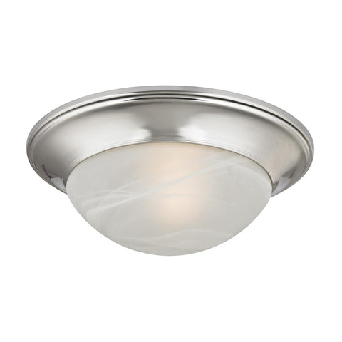 Cornerstone 1 Light Flushmount In Brushed Nickel