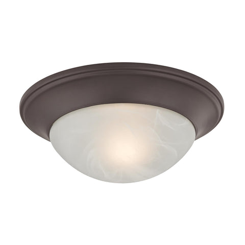 Cornerstone 1 Light Flushmount In Oil Rubbed Bronze