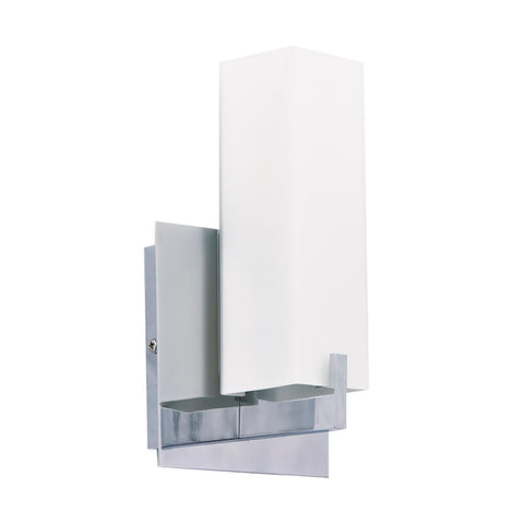 Cornerstone 1 Light Sconce In Chrome And White Glass 5241WS/30