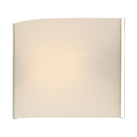 Cornerstone 1 Light Sconce In Chrome And White Opal Glass 5261WS/30