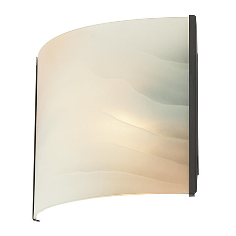 Cornerstone 1 Light Sconce In Oil Rubbed Bronze And Honey Alabaster Glass