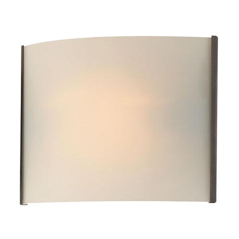 Cornerstone 1 Light Sconce In Oil Rubbed Bronze And White Opal Glass