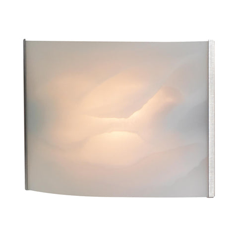 Cornerstone 1 Light Sconce In Stainless Steel And White Alabaster Glass
