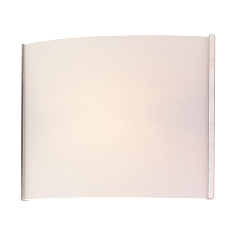 Cornerstone 1 Light Sconce In Stainless Steel And White Opal Glass