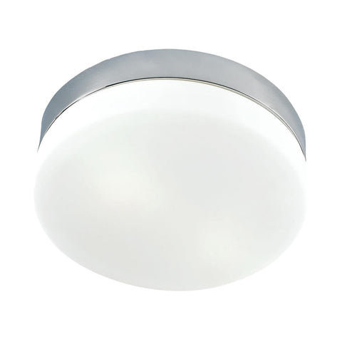 Cornerstone 2 Light Flush Mount In Satin Nickel And White Glass 7812FM/22