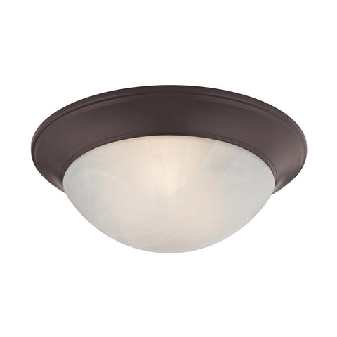 Cornerstone 2 Light Flushmount In Oil Rubbed Bronze