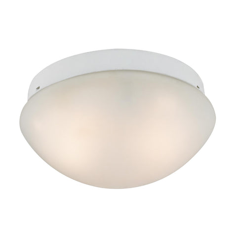 Cornerstone 2 Light Mushroom Flushmount In White