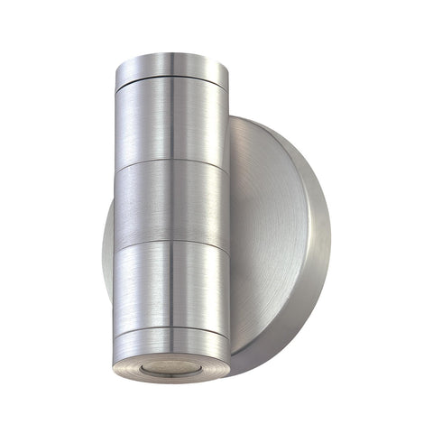 Cornerstone 2 Light Sconce In Brushed Aluminum And Clear Glass