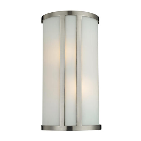 Cornerstone 2 Light Wall Sconce In Brushed Nickel