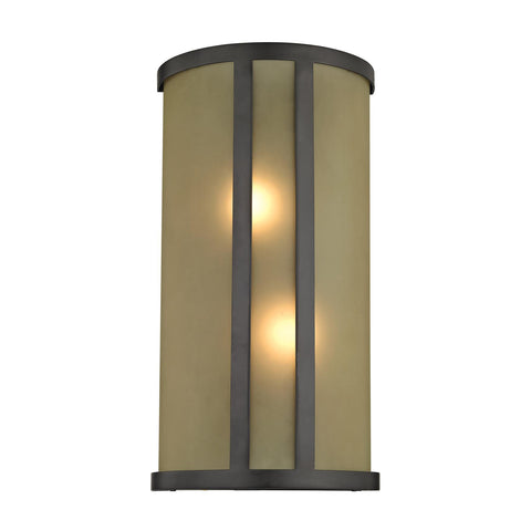 Cornerstone 2 Light Wall Sconce In Oil Rubbed Bronze