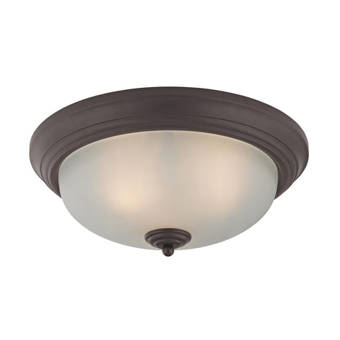 Cornerstone 3 Light Flush Mount In Oil Rubbed Bronze 7023FM/10