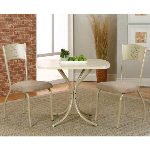 Sunset Trading Mocha 3 Piece Dining Room Set in Almond