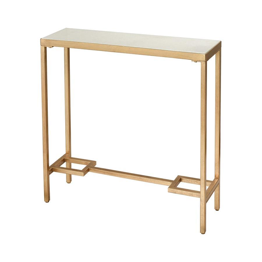 Diamond Home Equus Small Console Table In Antique Gold
