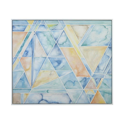 Diamond Home Geometric Conversion Wall Decor in Gloss White