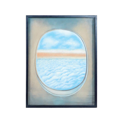 Diamond Home Plane Window Wall Decor I in Gloss Black