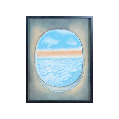Diamond Home Plane Window Wall Decor II in Gloss Black