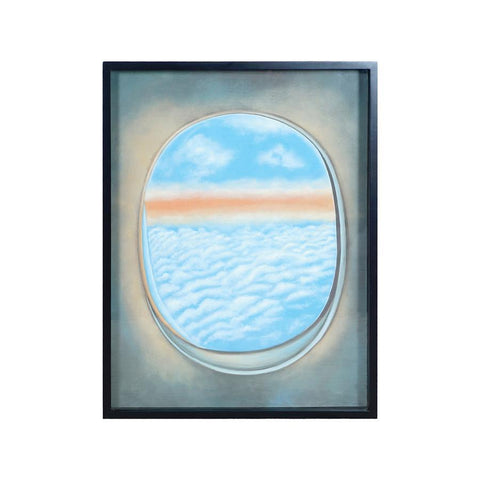 Diamond Home Plane Window Wall Decor III in Gloss Black