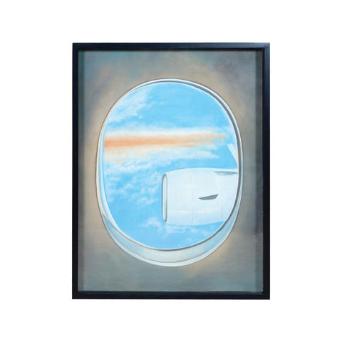 Diamond Home Plane Window Wall Decor IV in Gloss Black