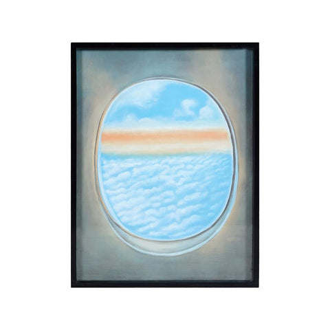 Diamond Home Plane Window Wall Decor V in Gloss Black