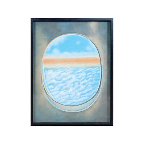 Diamond Home Plane Window Wall Decor VI in Gloss Black