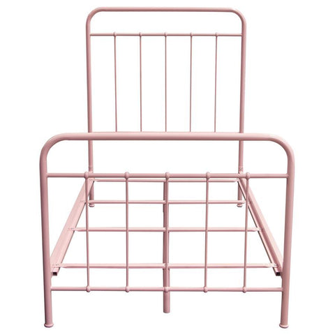 Diamond Sofa Bailey Pink Powder Coat Metal Twin Bed
