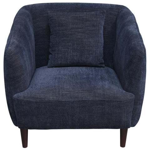 Diamond Sofa DeLuca Midnight Blue Fabric Chair
