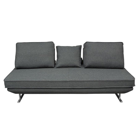 Diamond Sofa Dolce Lounge Seating Platform w/Moveable Backrest Supports - Grey Fabric