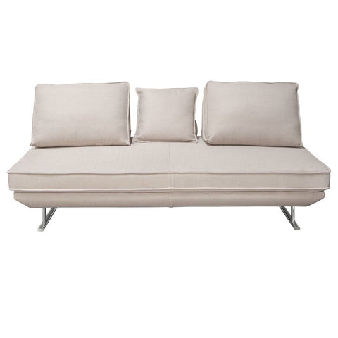 Diamond Sofa Dolce Lounge Seating Platform w/Moveable Backrest Supports - Sand Fabric